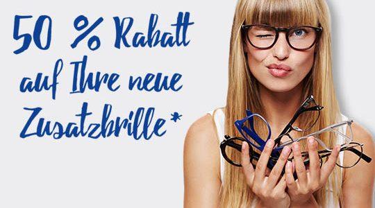 50% Rabatt auf Ihre neue Zusatzbrille